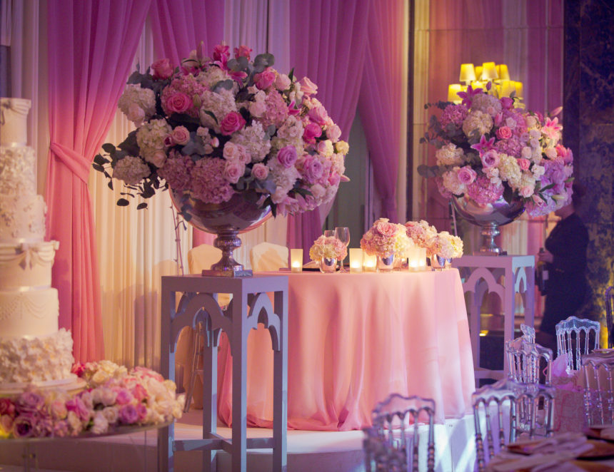 Sweetheart Table Setting at The Dorchester