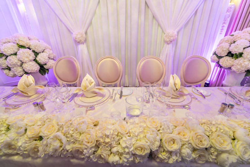Wedding Top Table at The Dorchester