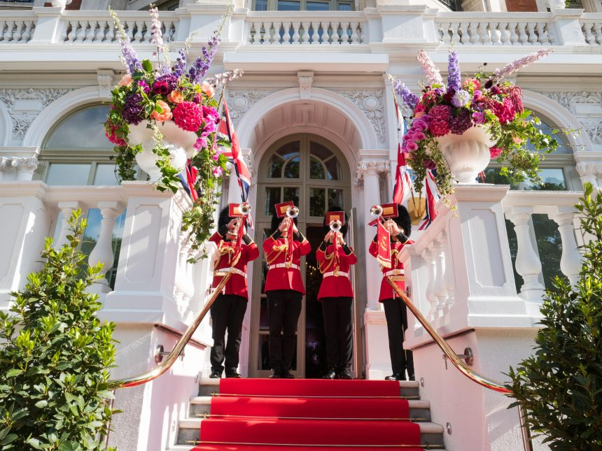 Royal Fanfare outside The Loggia at The Mandarin Oriental