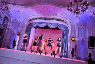 Named Artist, The Saturdays, performing at The Savoy