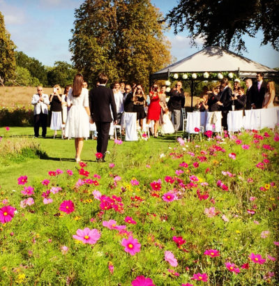 Outdoor Wedding Ceremony at Coworth Park