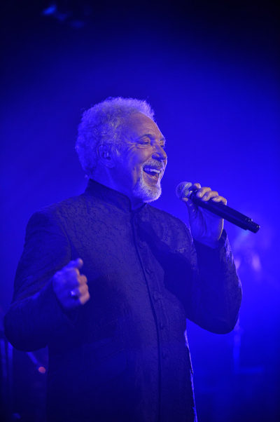 Named artist, Tom Jones, performing at Grosvenor House Hotel