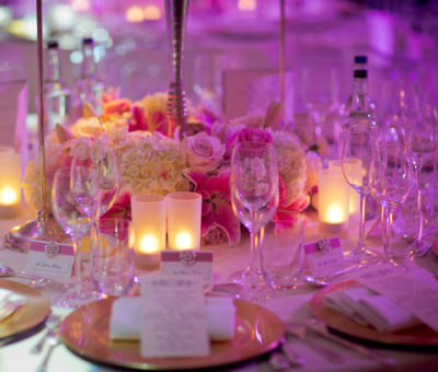 Wedding Table Set Up at The Dorchester