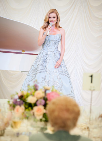 Named Artist, Katherine Jenkins, at a Private Clients 100th Birthday Party